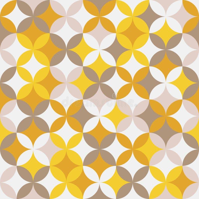 Abstract rond patroon Gebaseerd op Traditioneel Japans Borduurwerk vector illustratie