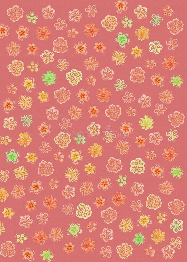 Abstract Rood Bloempatroon royalty-vrije illustratie