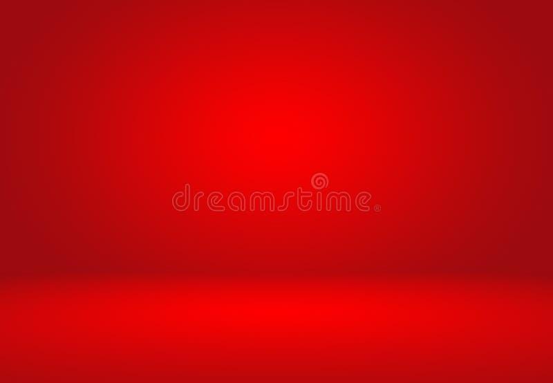 Abstract Rood de lay-outontwerp van achtergrondkerstmisvalentijnskaarten, studi stock illustratie