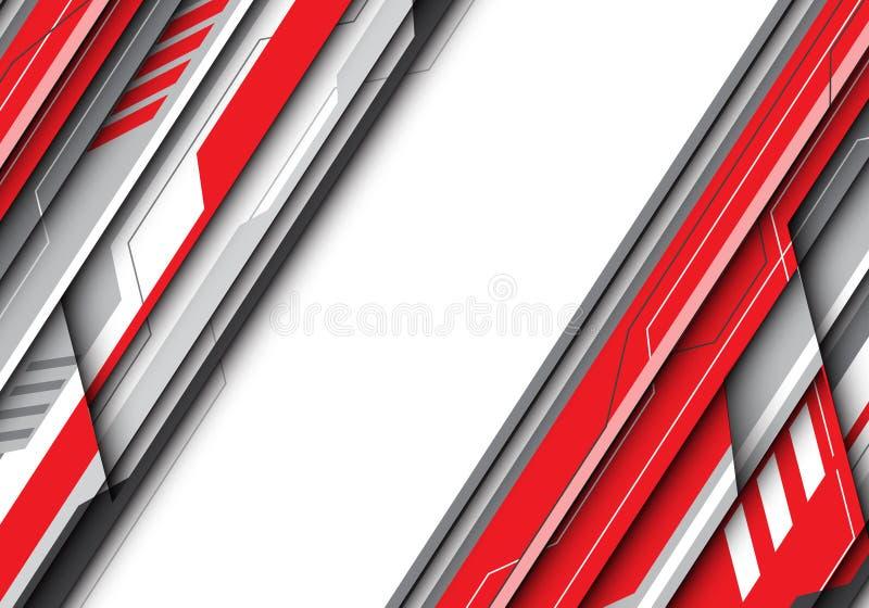 Abstract rood grijs metaal futuristisch met witte bankruimte voor het ontwerp moderne creatieve van de tekstplaats vector als ach royalty-vrije illustratie