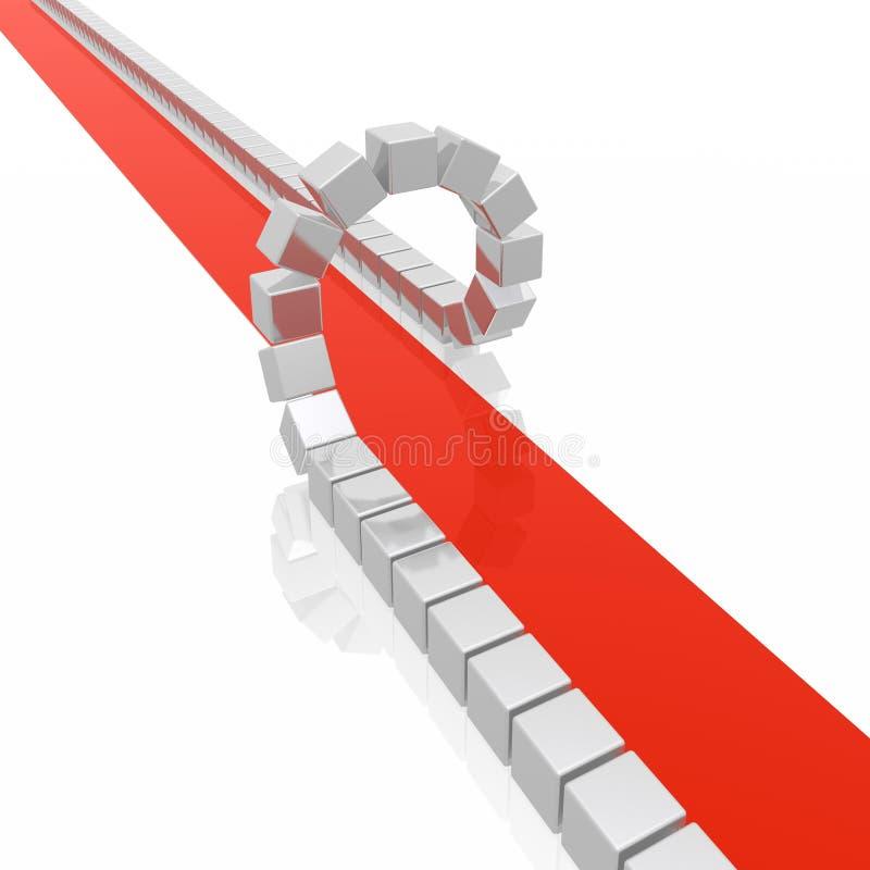 Abstract rood tapijt vector illustratie