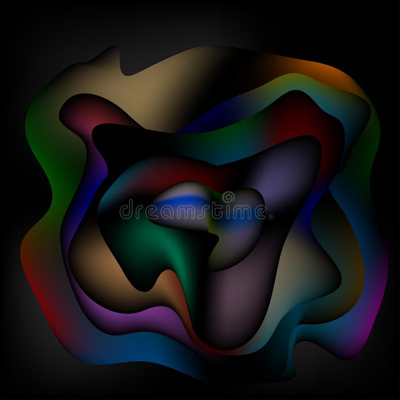 Abstract rose on a dark background stock illustration