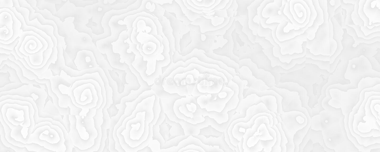 Abstract white rose design background royalty free illustration