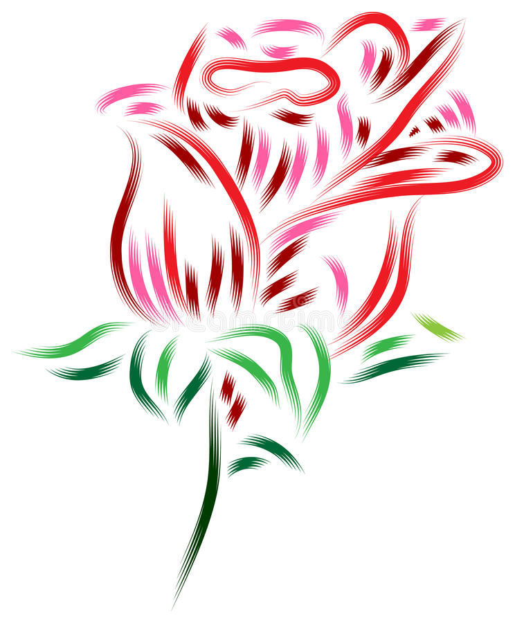 Abstract rose stock illustration