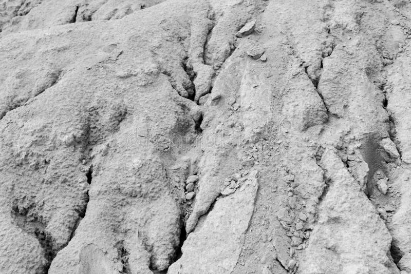 Abstract rough dry shape created by wind and water on abandoned kaolin quarry stock photo