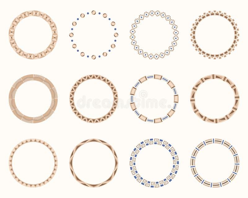 Abstract round frames set. Vector illustration. vector illustration
