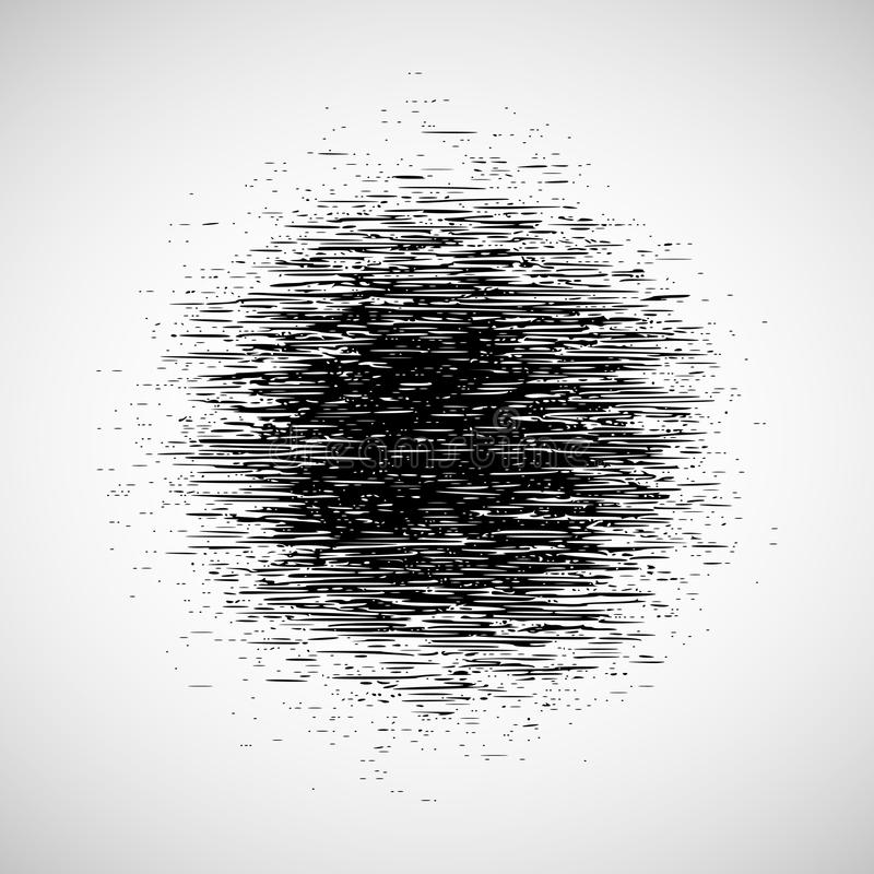 Abstract round grunge pattern. Grunge overlay texture. Vector illustration of black and white abstract round pattern with dust and noise for your design royalty free illustration