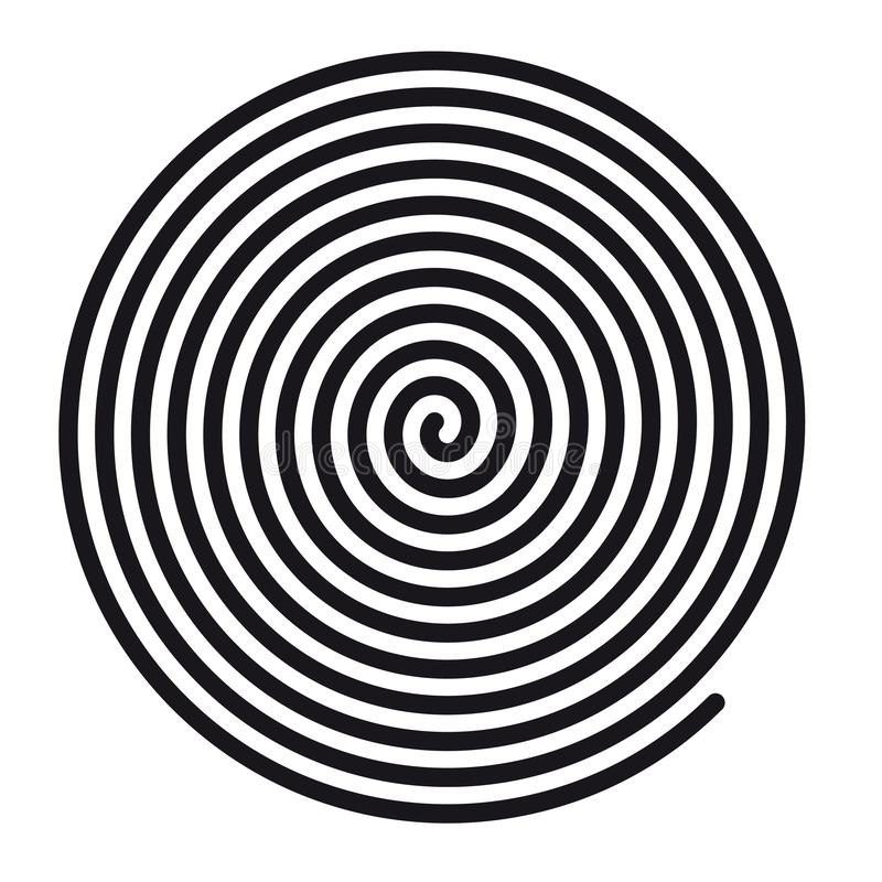 Abstract Round Hypnotic Spiral Vortex - Vector Illustration - Isolated On White Background vector illustration