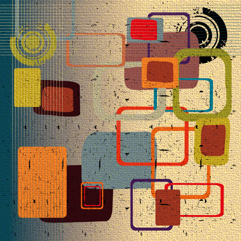 Abstract rounded squares vector illustration