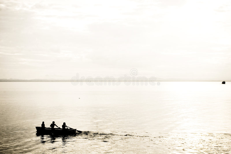 Abstract Rowing Silhouette stock photography