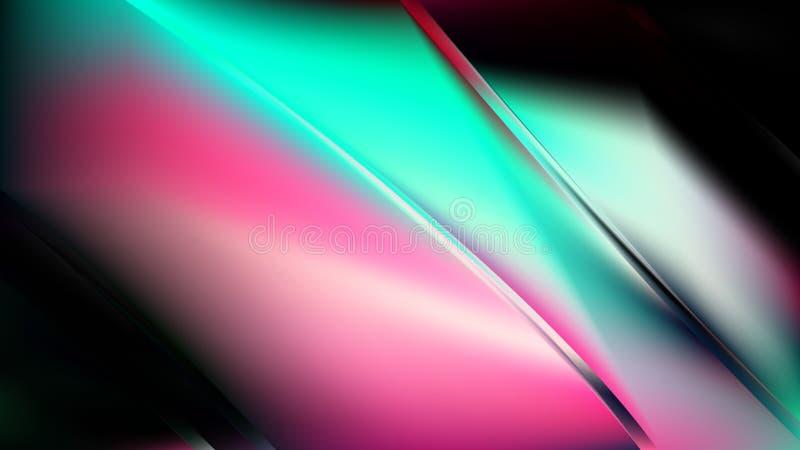 Abstract Roze Groen en Zwart Diagonaal Glanzend Lijnen Vectorbeeld Als achtergrond vector illustratie