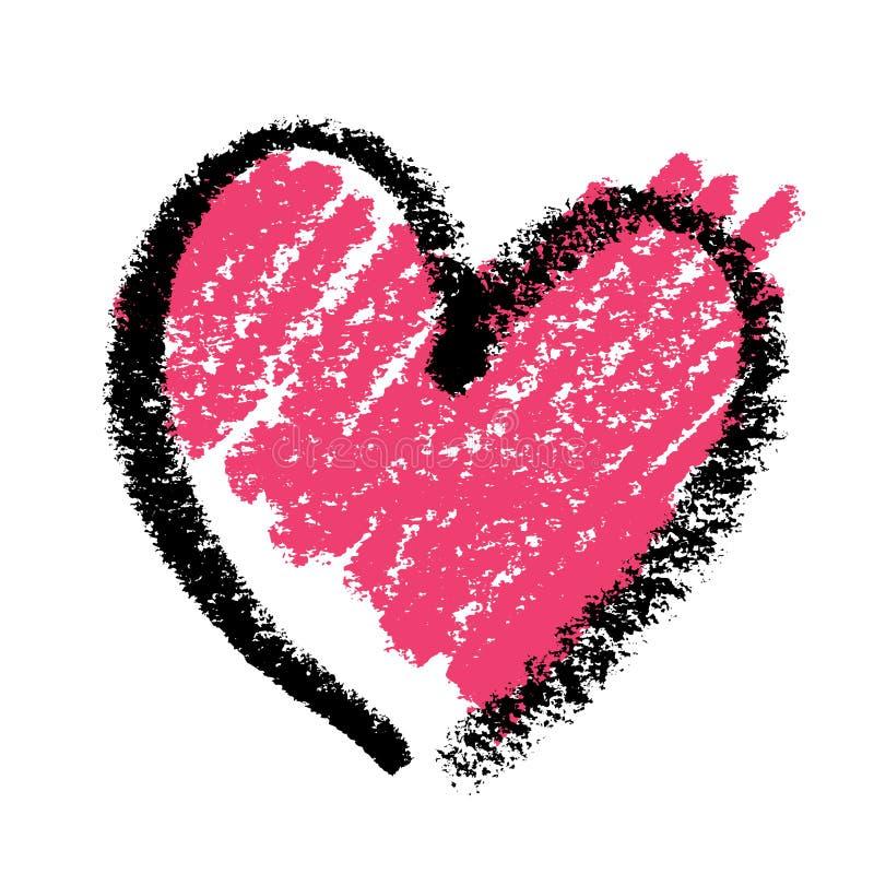 Abstract roze hart vector illustratie