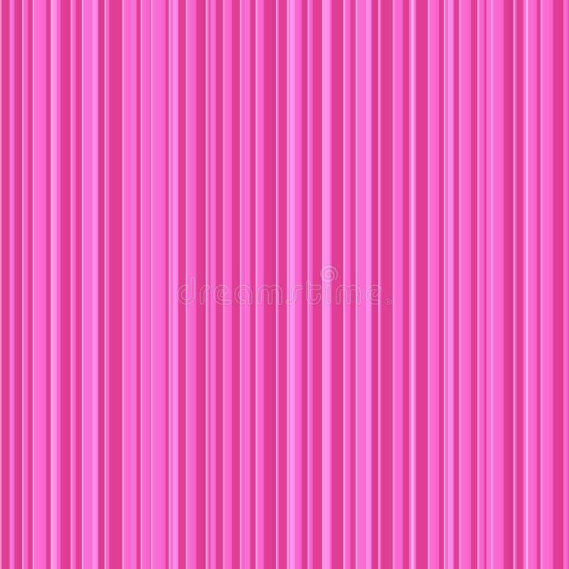 Abstract roze strepen vector naadloos patroon stock illustratie