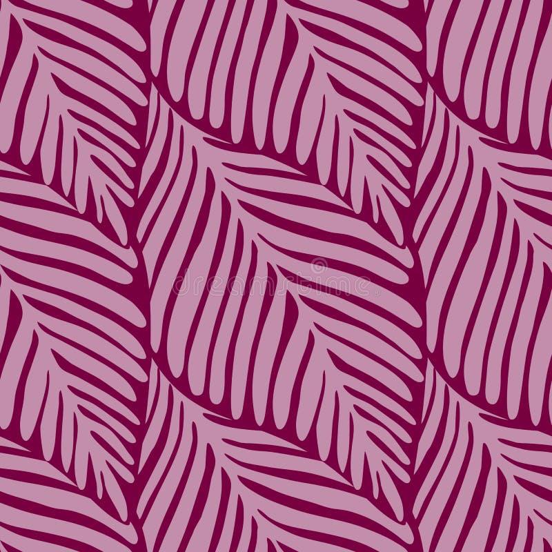 Abstract roze wildernis naadloos patroon Exotische installatie vector illustratie