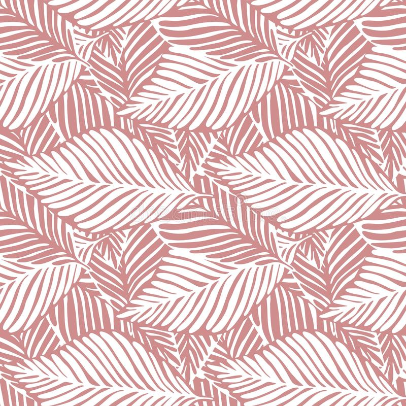 Abstract roze wildernis naadloos patroon Exotische installatie stock illustratie