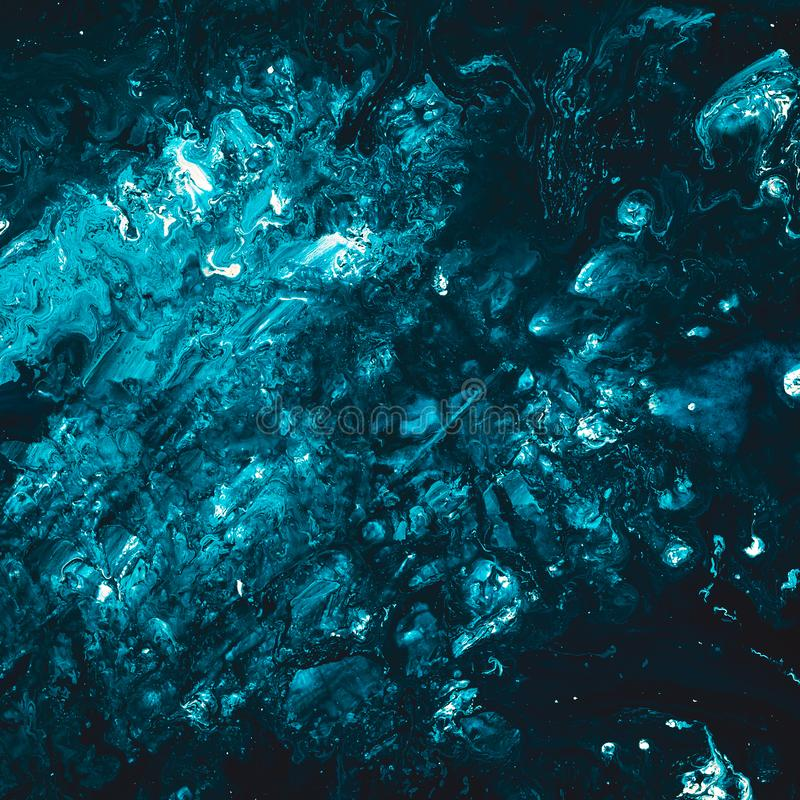 Abstract rubble ice teal blue paint art background royalty free illustration