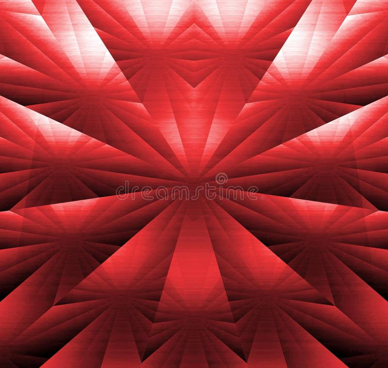 Abstract - ruby rays, star in circle. An abstract image, ruby rays, lines, stars in circle. A fantasy illustration vector illustration