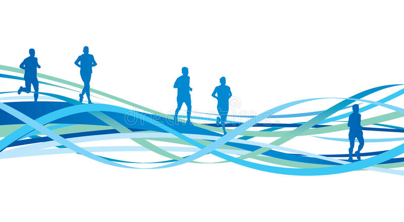 Download Abstract runners stock vector. Illustration of shape - 24875222