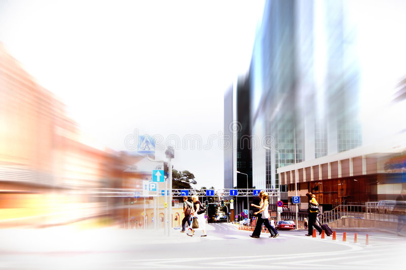 Abstract rush hour royalty free stock photography