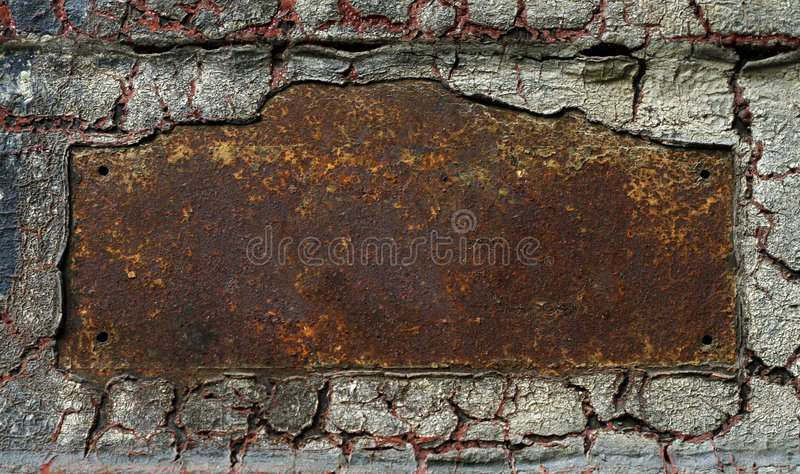 Abstract Rusty Grunge Metal Frame Stock Photo - Image of ...