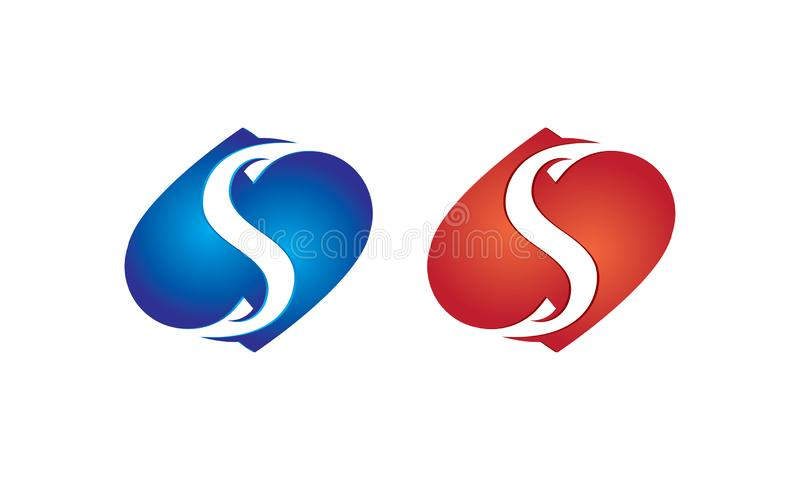 Abstract S Letter Logo Icons Design Vector - Creative Company Logo Template vector illustration