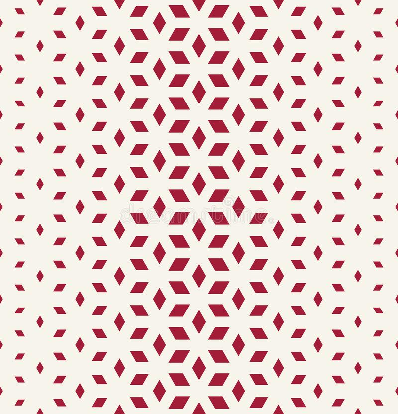Abstract sacred geometry red grid halftone cubes pattern. Background royalty free illustration