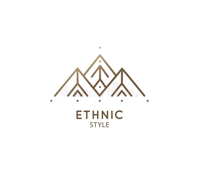 Free Abstract Sacred Symbol Of Mountain, Pyramides Logo Stock Images - 154725204