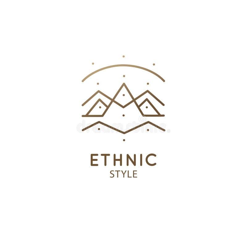 Free Abstract Sacred Symbol Of Mountain, Pyramides Logo Stock Photography - 154725232
