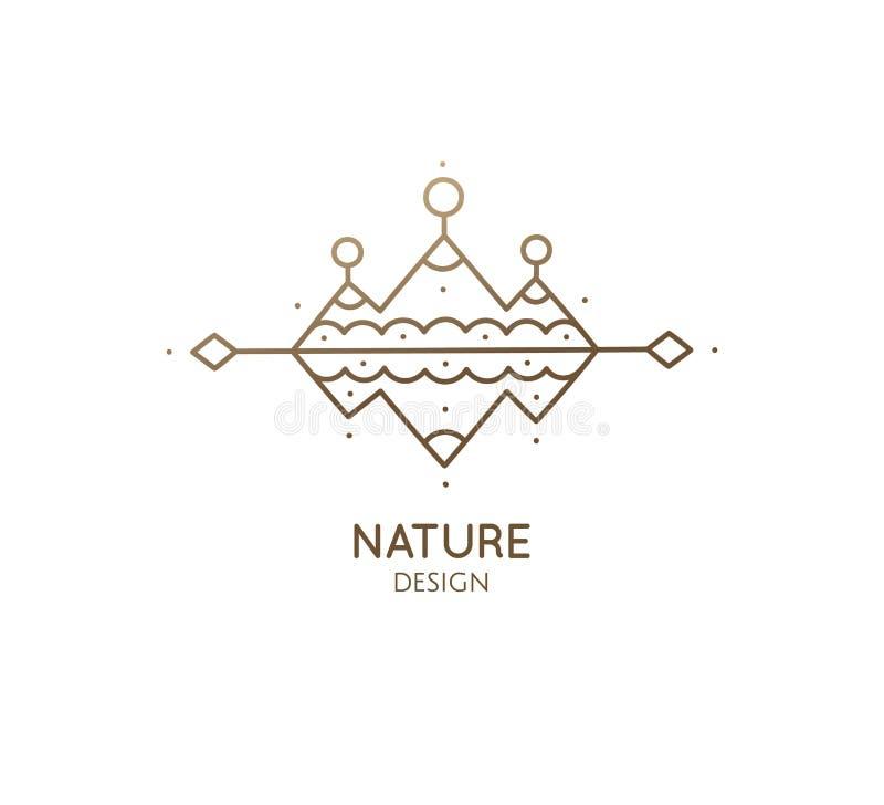 Free Abstract Sacred Symbol Of Mountain, Pyramides Logo Stock Photos - 156033573