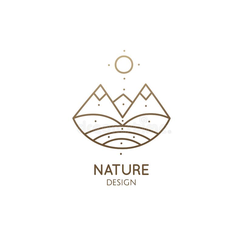 Free Abstract Sacred Symbol Of Mountain, Pyramides Logo Stock Photos - 156033663