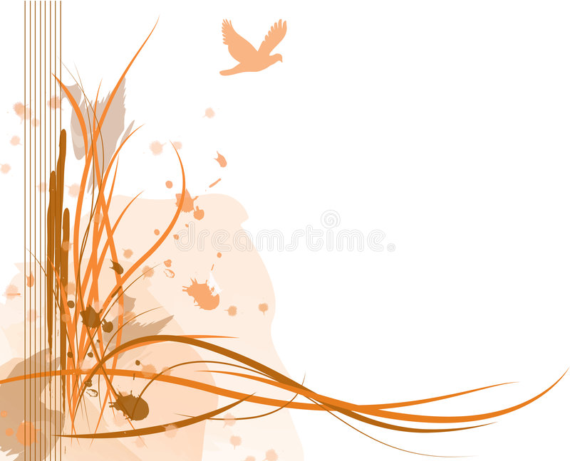 Abstract Sand Dune. Abstract illustration of a sand dune with a bird in the sky royalty free illustration