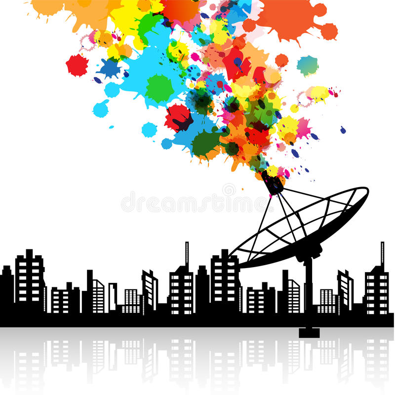 Free Abstract Satellite Dish Signal Stock Images - 27010174