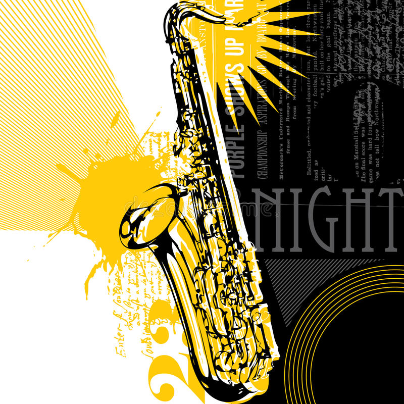 Download Abstract Saxophone Background Stock Vector - Image: 11903692