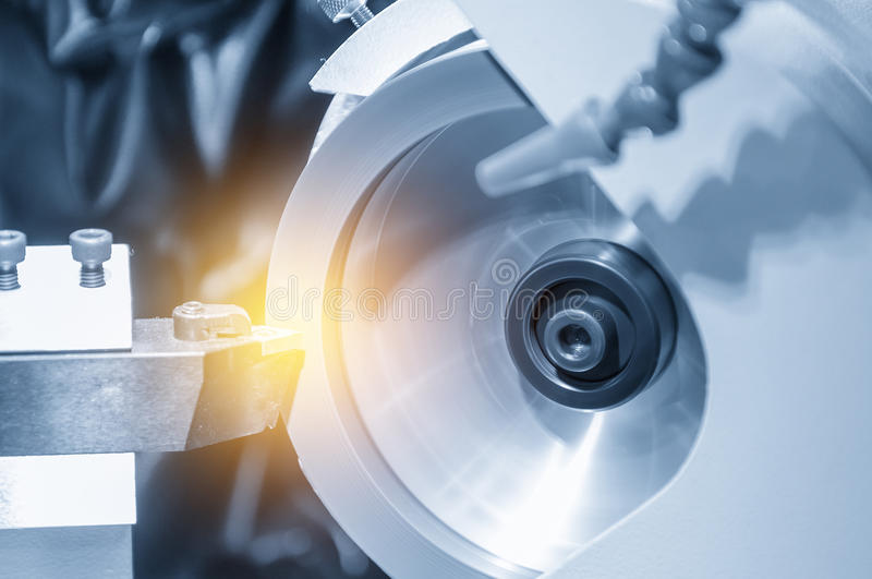 The abstract scene of the grinding machine stock photography
