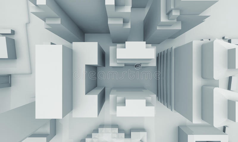 Abstract schematic contemporary cityscape stock illustration