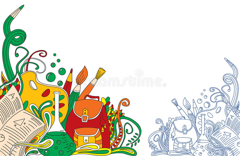 Abstract School Doodles Royalty Free Stock Photo