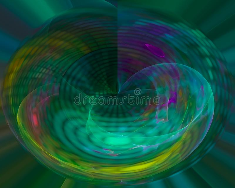Abstract science digital explosion sparkle effect curve fractal, texture beautiful design shiny, flare shape , decoration. Abstract digital fractal beautiful royalty free illustration