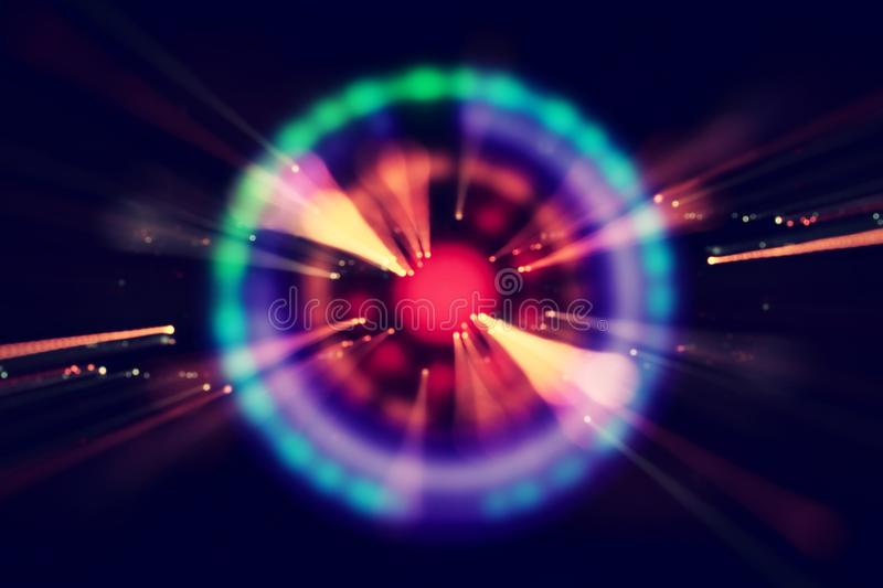Abstract science fiction futuristic background . lens flare. concept image of space or time travel over bright lights. stock images