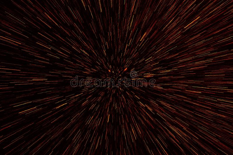 Abstract science fiction outer space and time travel concept background. Abstract bokeh background. Zooming effect style. royalty free stock photo