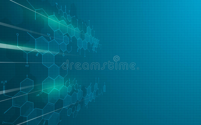 Abstract science technology innovation education design concept background stock illustration
