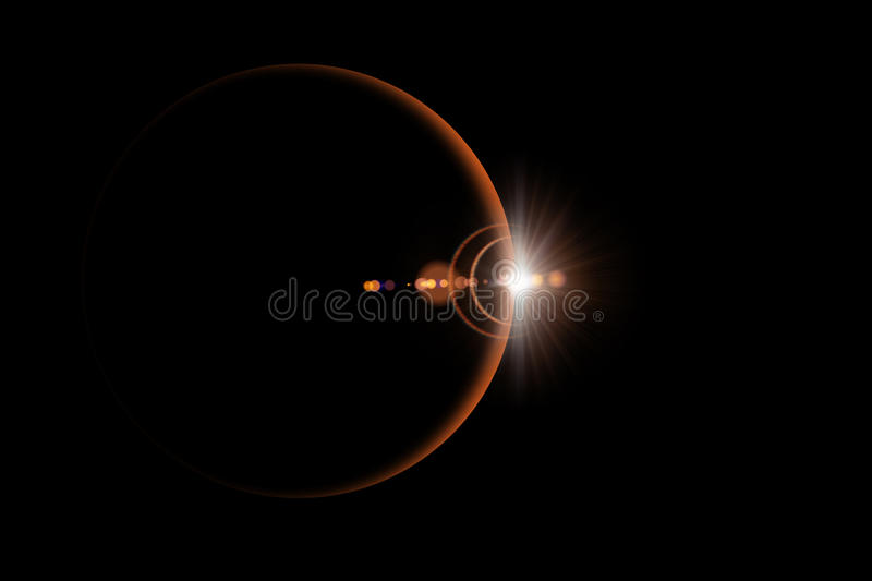 Abstract scientific background - glowing planet. royalty free stock image