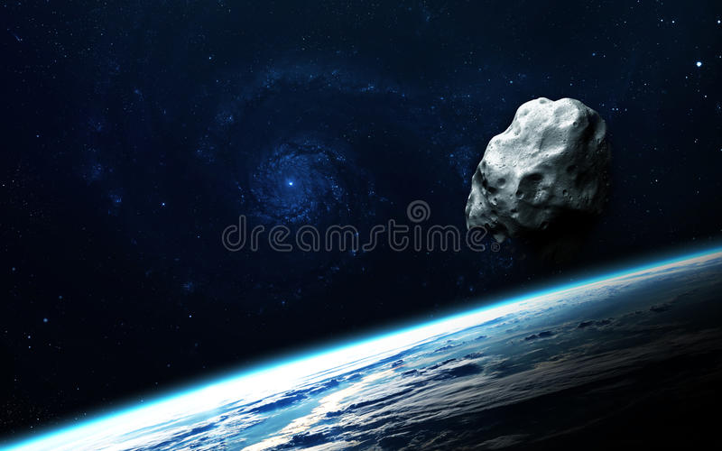 Abstract scientific background - planets in space, nebula and stars. Elements of this image furnished by NASA nasa.gov. Abstract scientific background - planets royalty free stock image