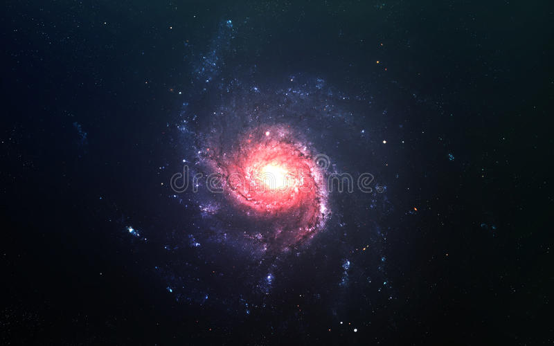 Abstract scientific background - planets in space, nebula and stars. Elements of this image furnished by NASA nasa.gov royalty free stock image