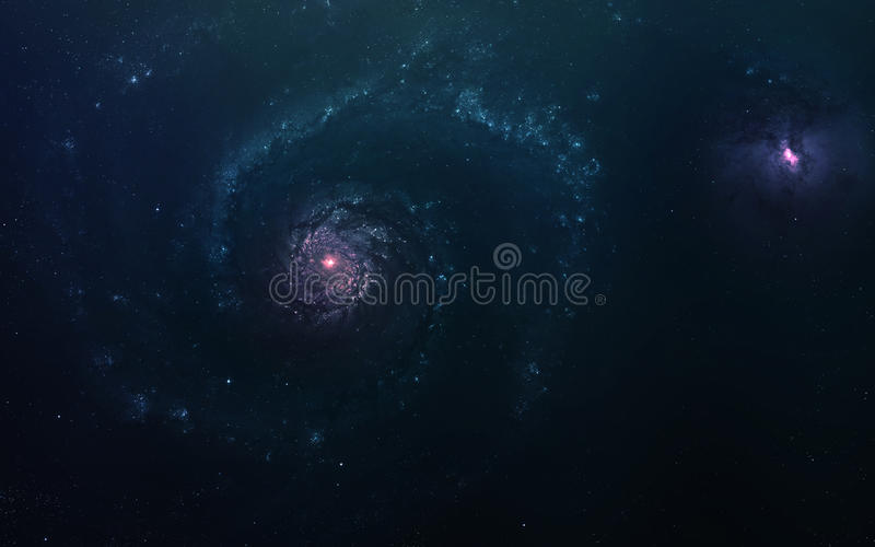 Abstract scientific background - planets in space, nebula and stars. Elements of this image furnished by NASA nasa.gov. Abstract scientific background - planets royalty free stock images