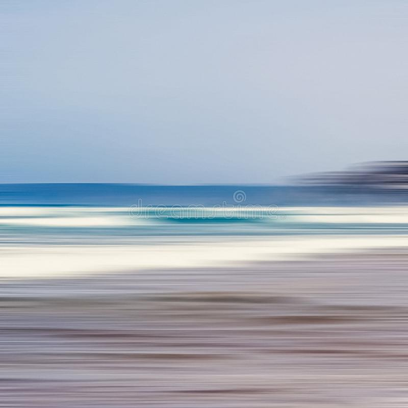 Free Abstract Sea Background, Long Exposure View Of Dreamy Ocean Coast In Summer Stock Photos - 163533893