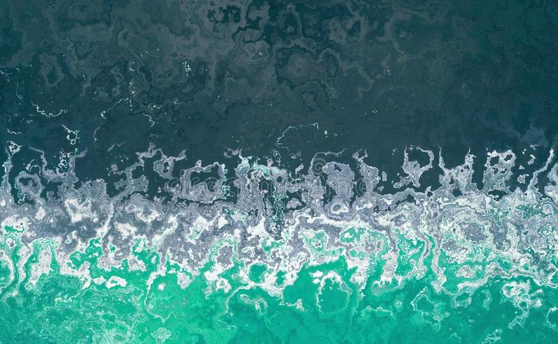 Abstract sea background with splashes of waves.Water blue waves banner. royalty free stock photos