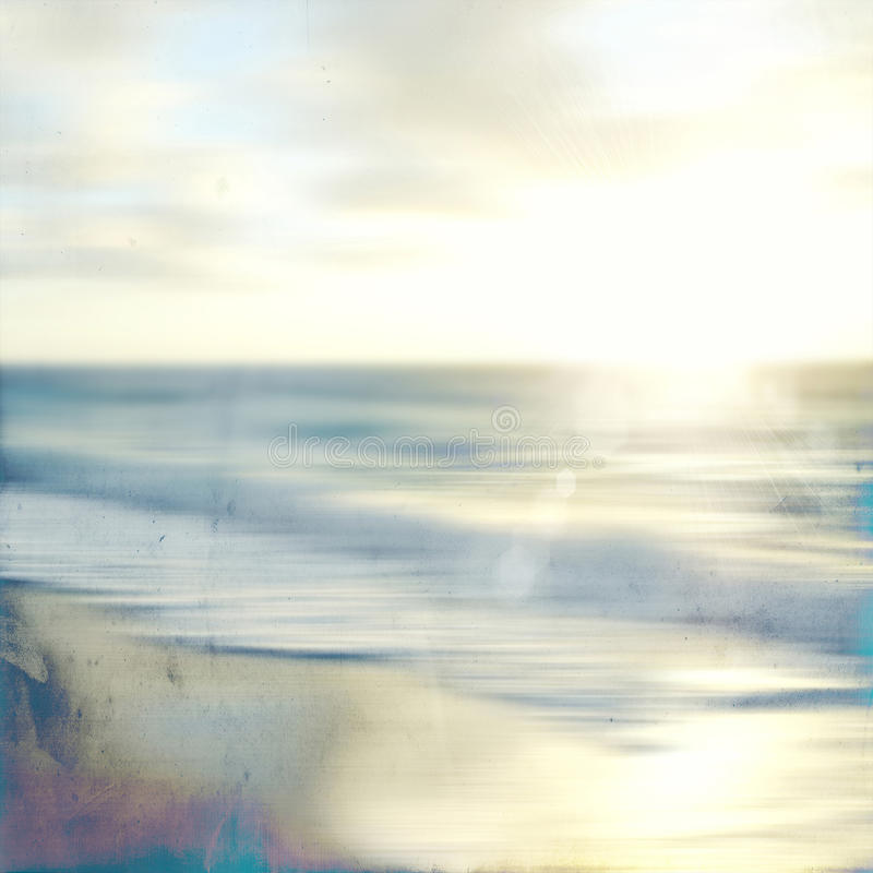 Abstract sea seascape with old paper blurred panning motion. An abstract sea seascape with old paper blurred panning motion stock photos