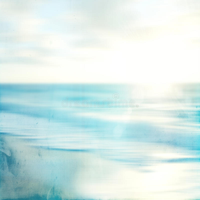 Abstract sea seascape with old paper blurred panning motion. An abstract sea seascape with old paper blurred panning motion royalty free stock photo