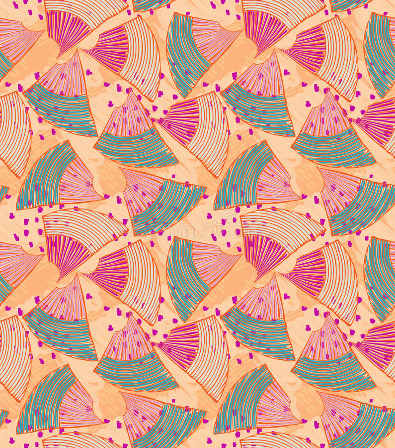 Abstract sea shell with pink dots royalty free illustration