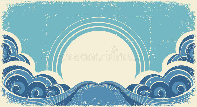 Abstract sea waves. royalty free illustration